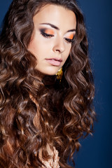 Beautiful lady with Long Healthy Wavy Hair