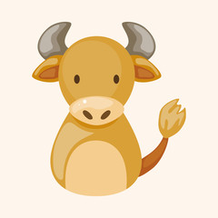 Chinese Zodiac ox theme elements
