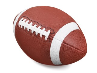 Football. American Football with Clipping Path