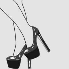 The legs of women