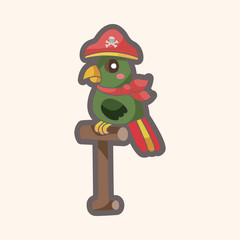 pirate parrot theme elements