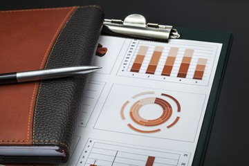 Report. Financial graphs analysis on table