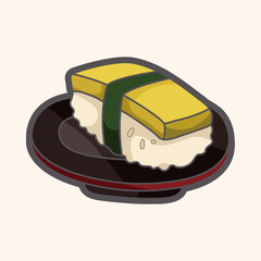 Japanese food sushi theme elements
