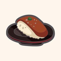 Japanese food sushi theme elements