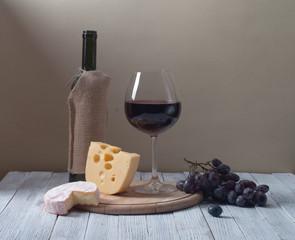 Wine and fresh cheese