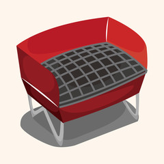 barbecue equipment theme elements