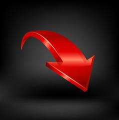 Red arrow vector.