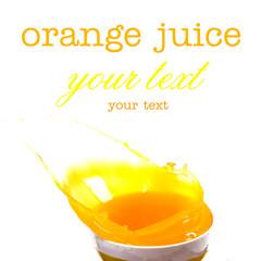Splashes of orange juice