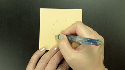 Hand-drawn smiley face Blushing