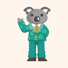 animal koala worker cartoon theme elements