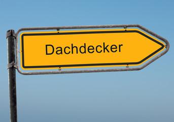 Strassenschild 38 - Dachdecker
