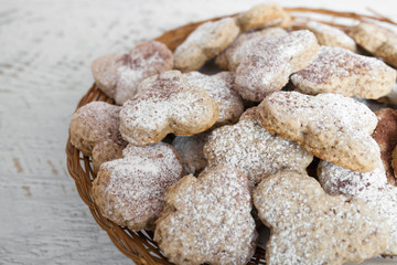 Homemade ginger cookies