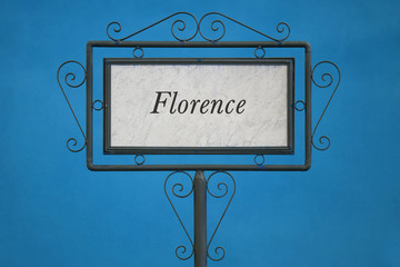 Florence on a Signboard