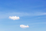 White clouds and fantastic soft white clouds against blue sky