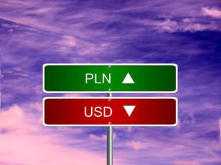 PLN USD Forex Sign