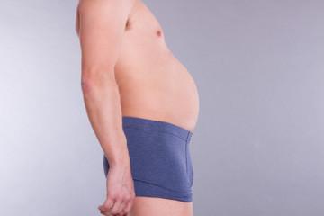 dicker junger Mann Körper , Männerkörper