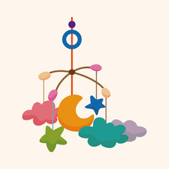 baby hanging theme elements