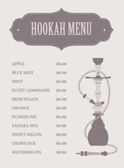 Hookah menu template.