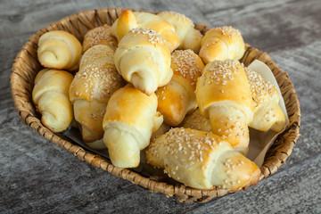 Fresh hmemade small bread like snacks