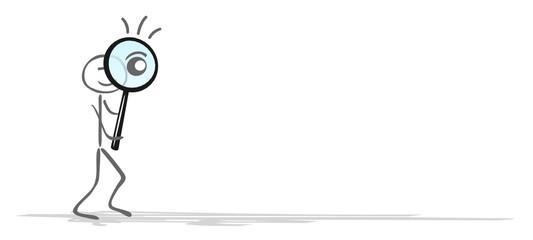 Strichmännchen Lupe Auge