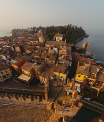 Old town of Sirmione, Northern Italy during sunset