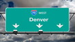 Denver Interstate 70 Freeway Sign Time Lapse