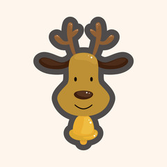 Reindeer theme elements