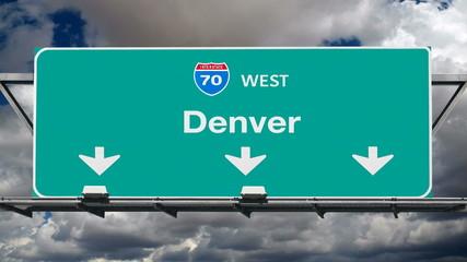 Denver Interstate 70 Freeway Sign Time Lapse