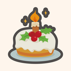 Christmas cake theme elements
