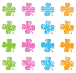 Pattern Filled Clovers