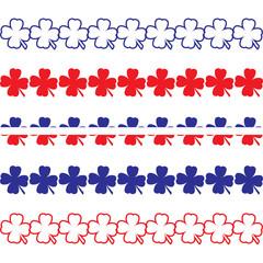 Patriotic Clover Borders