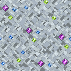 Geometric texture with colorful diamonds. Vector.