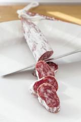 cutting the salami