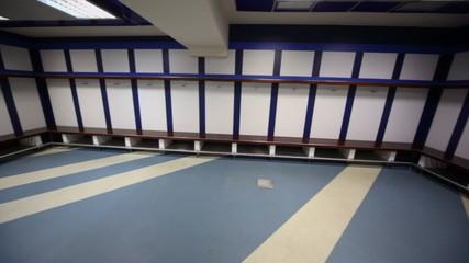 Cloakroom in Santiago Bernabeu Stadium - arena of soccer club