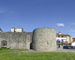 Town walls medieval town of Cividale del Friuli. Italy