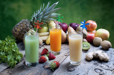 juices of mixed fruit