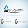 OIl gas company vector logo design template color set. - 80166548