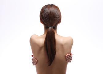 日本人女性の背中