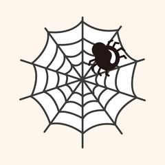 Halloween spider theme elements