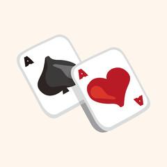 casino poker card theme elements