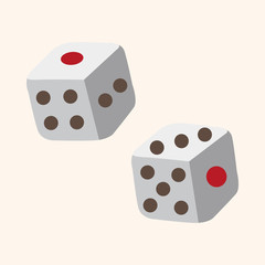 casino dice theme elements