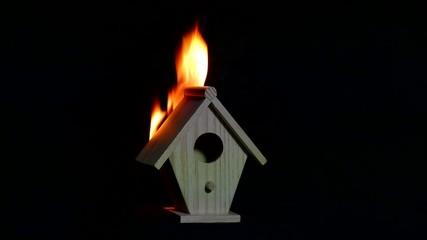 Miniature House Fire
