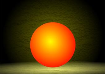 kırmızımsı top tasarımı