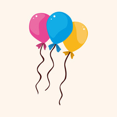 birthday balloon theme elements