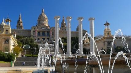 View of Catalunya National Museum of Art. Barcelona, Spain