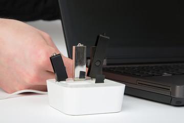 USB Hub ausgenutzt