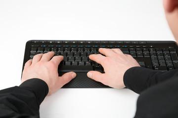 Manager bei Computerarbeit