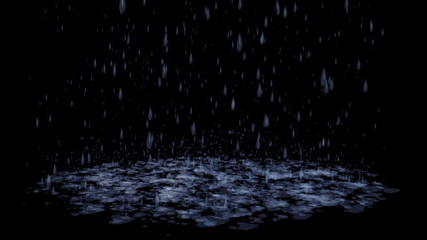 Blue Rain Storm 3D