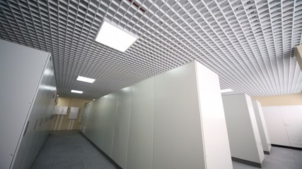 Room with racks with equipment for telecommunication system