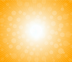 Hot sun lights, abstract summer background
